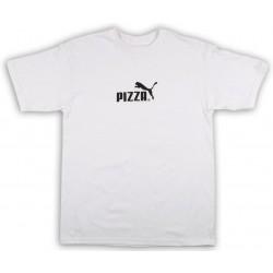 T-Shirt Pizza Skateboard Pizza Cat White