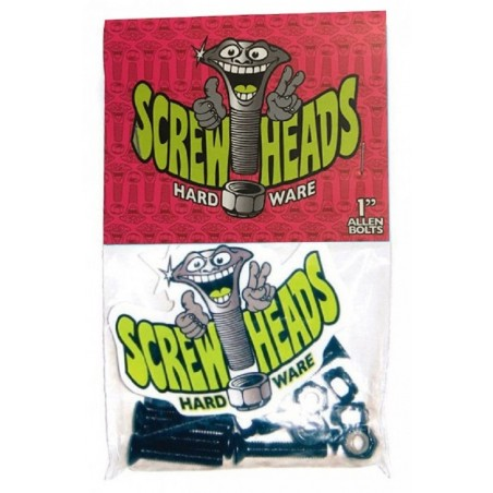 Pack 8 Vis Skateboard Screwheads Bolt Allen 1 Pouce