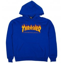 Thrasher Flame Logo Hood Royal