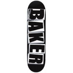 Plateau Baker Skateboards Brand Name Logo Black White 8.125