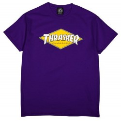 Thrasher Diamond Logo Tee Purple