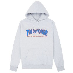 Thrasher Outlined Hoodie Ash Grey