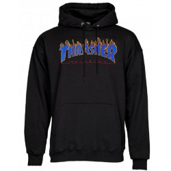 Thrasher Flame Logo Hood Black Blue