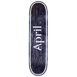 April Skateboards OG Logo Invert Black Deck 8.38