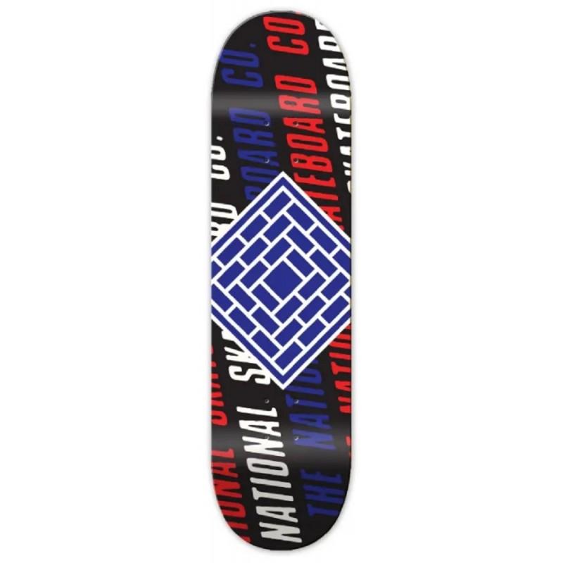 Planche The National Skateboards Slant Logo Black 8.125