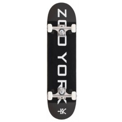 Zoo York Skateboards OG 95 Logo Block Black White Complete 7.75