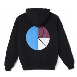Polar Skate Co 3 Tone Fill Logo Hoodie Black