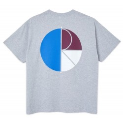 Polar Skate Co 3 Tone Fill Logo Tee Sport Grey