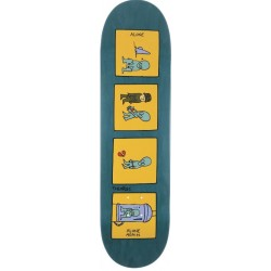 Theories Skateboards Alone Teal Deck 8.25