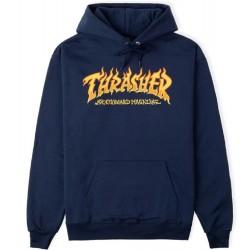 Thrasher Fire Logo Hood Navy