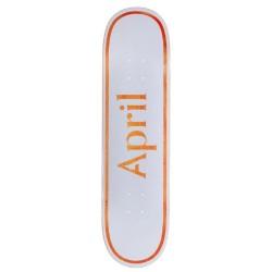 April Skateboards OG Logo Orange Deck 7.8
