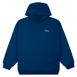 Dime MTL Classic Small Logo Hoodie Navy