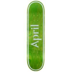 Planche April Skateboards OG Logo Invert Green 8.25