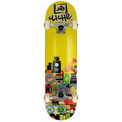 Cliché Skateboards Complete Document Yellow 8.0