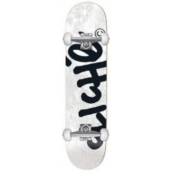 Cliché Skateboards Complete Handwritten White 8.25