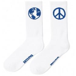 Butter Goods World Peace Socks White