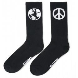 Buttergoods World Peace Socks Black