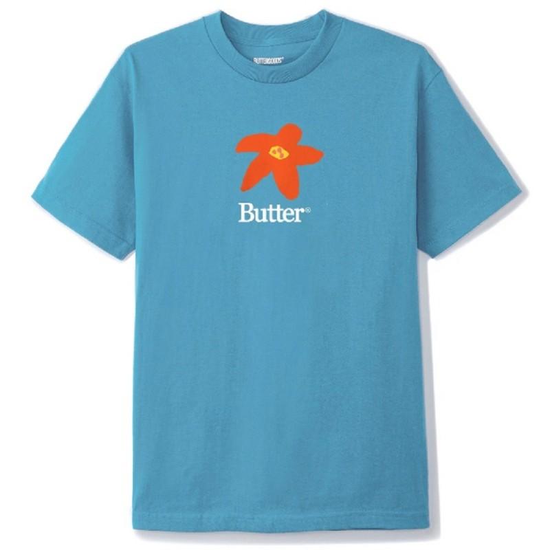 Butter Goods Flowers Tee Carolina Blue