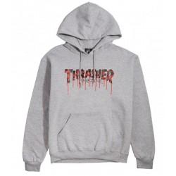 Thrasher Blood Drip Hood Ash