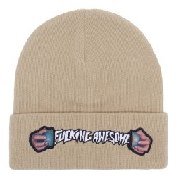 Fucking Awesome World Cup Cuff Beanie Sand