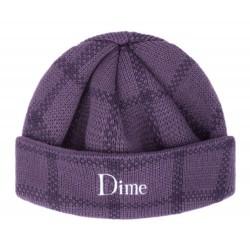 Dime MTL Classic Plaid Beanie Purple