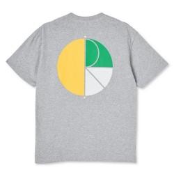 Polar 3 Tone Fill Logo Tee Sport Grey Yellow Green White