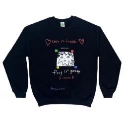 Frog Is Garbage Sweater Black