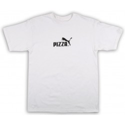 T-Shirt Pizza Skateboard Pizza Cat White