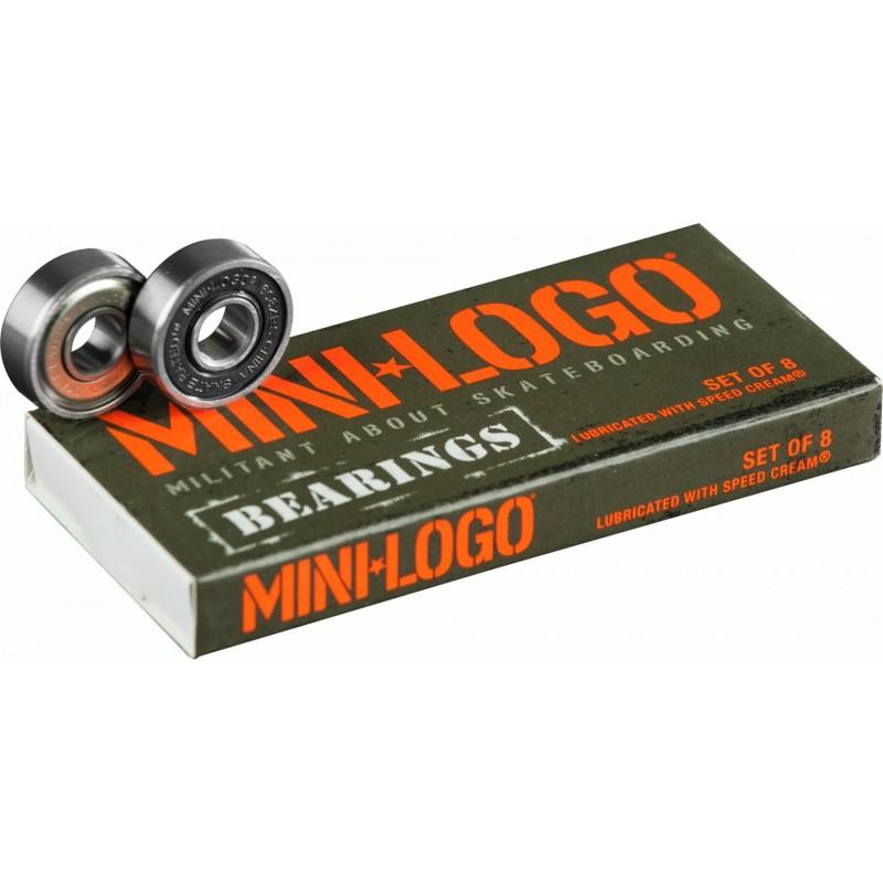 Jeu de 8 roulements  Mini Logo Skateboard