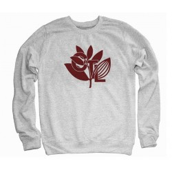 Sweat Shirt Magenta X Central Skate Shop CTL Plantlife Crewneck Grey Heather