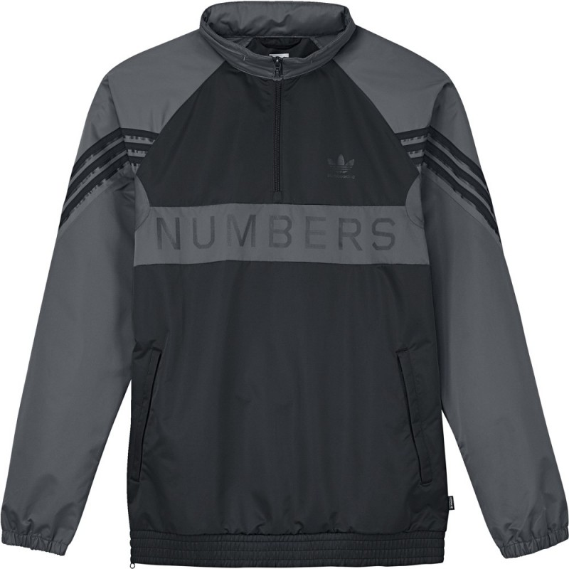 Veste de survêtements Adidas Skateboarding X Numbers Edition Grey Carbon