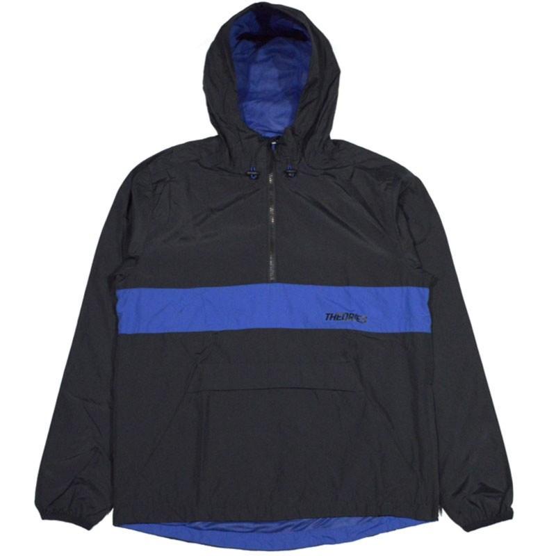 Jacket Half Zip Theoris Brand Stamp Sport Black