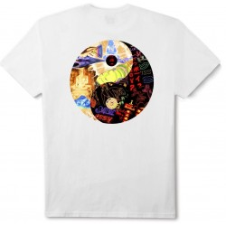 T-Shirt Huf Worldwide Dharma Tee White