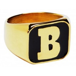 Bague Baker Skateboards Captial B Gold Ring